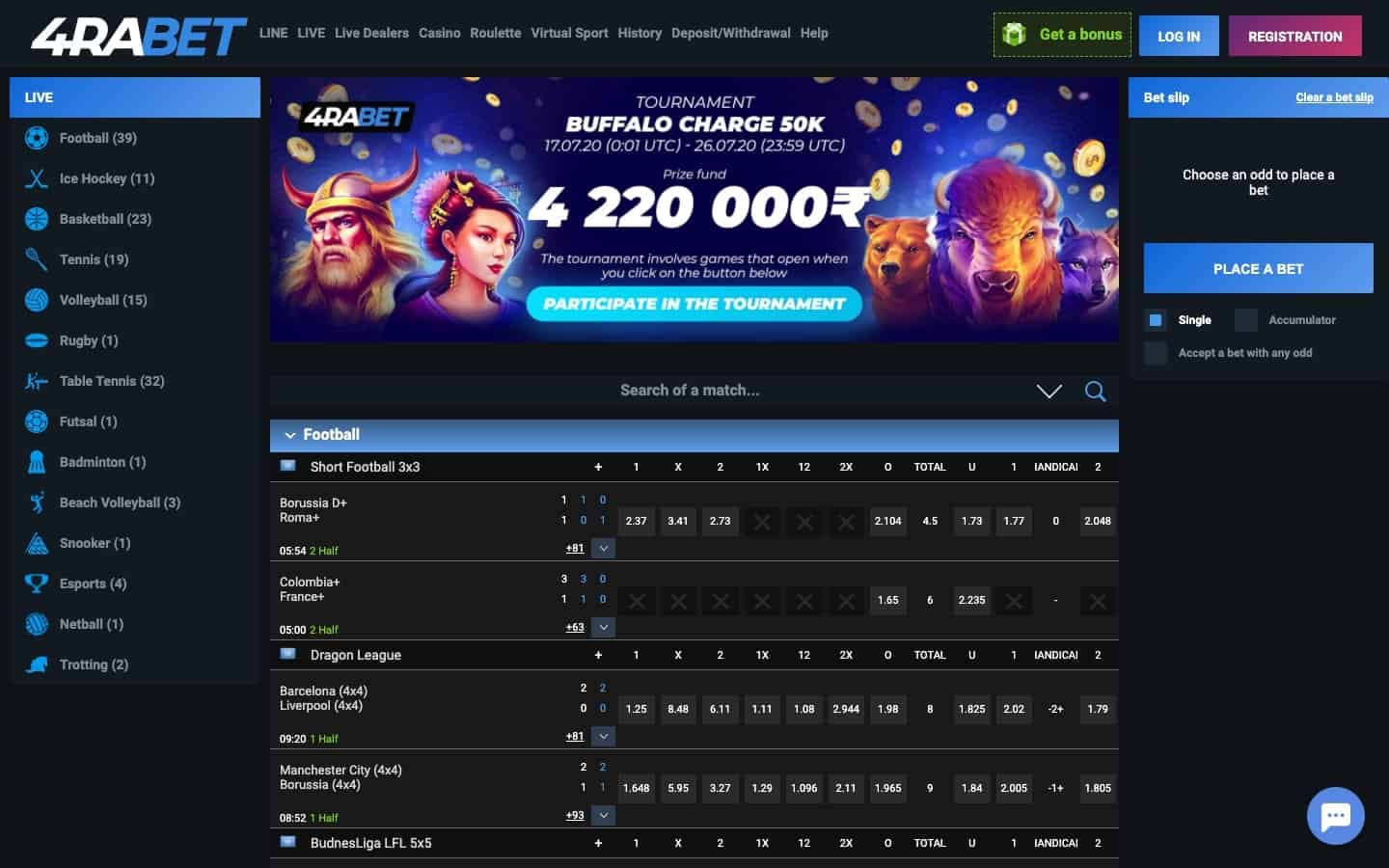 4Rabet Casino review - Website