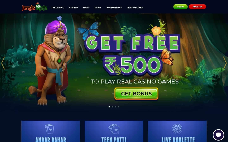 JungleRaja Casino review - Website